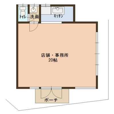 【外観】通り沿い 1階路面店 深野 野崎駅