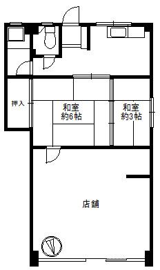 【外観】1階店舗 間口広 王子町 阿倍野駅