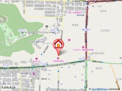 【地図】ウインドパレス歩行町