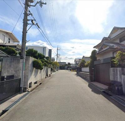 【前面道路含む現地写真】堺市南区茶山台 売地