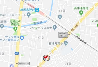 【地図】レオパレスフィーア(48308-303)