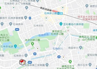 【地図】レオパレスオリーブハウスⅢ(25846-104)