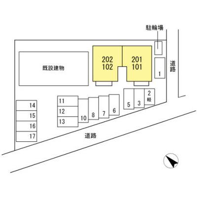【区画図】ハイカムール藤