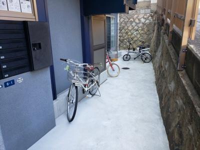 駐輪場☆神戸市垂水区 サンマリン海岸通 賃貸☆