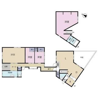 岐阜市大菅北 中古戸建 駐車スペース3台! 築30年の平屋と築4年の2階建て住宅が廊下でつながってます!平屋はリフォーム済みです♪