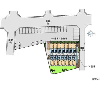 【地図】レオパレス秀