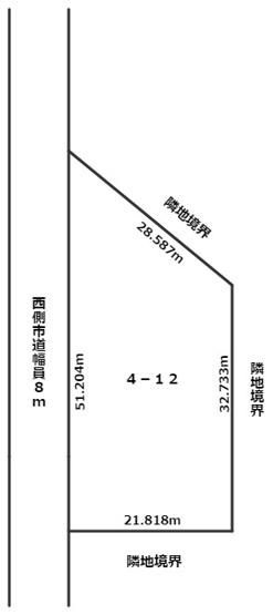 【区画図】北見市山下町4丁目4番地12 売買ビル