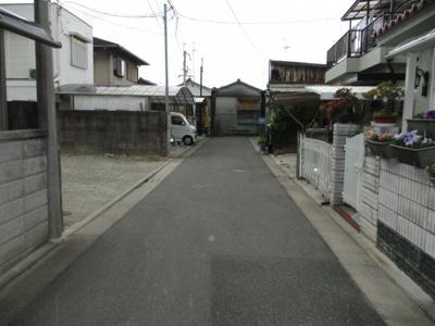 【前面道路含む現地写真】堺市東区日置荘田中町 売土地
