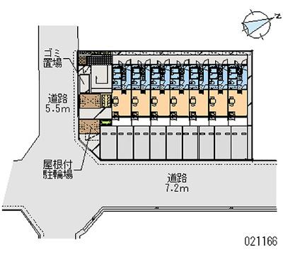 【地図】レオパレスカルチェ三和