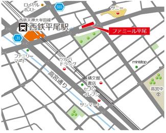 高宮駅まで徒歩5分!通勤便利なのはもちろん、駅からの帰り道には買い物に立ち寄るのに便利な商業施設もたくさんあります♪