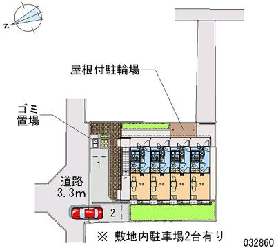 【地図】レオパレスプレンティ鳳中町