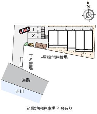 【地図】クレイノアークヴィラ