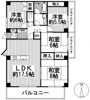 ジャルダン雲雀丘花屋敷 2階