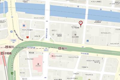 【地図】プレサンス難波幸町