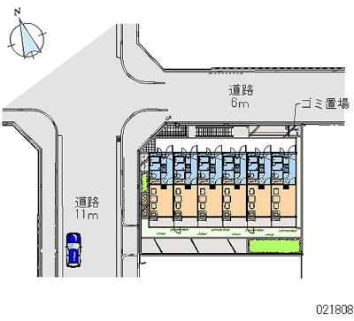 【地図】レオパレスシャーマー御崎