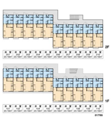 【区画図】レオパレス門真みなみC