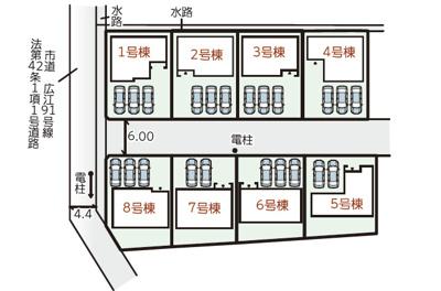 【区画図】リーブルガーデン倉敷・広江1丁目 8号棟