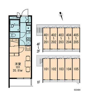 【区画図】レオパレス陽木の宿