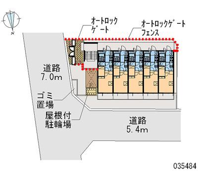 【地図】レオパレス陽木の宿