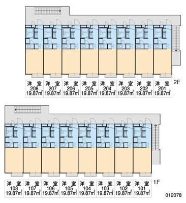 【区画図】レオパレスコーラルⅠ