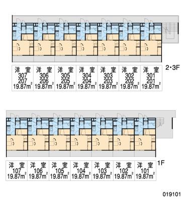 【区画図】レオパレスタウンコート北田辺