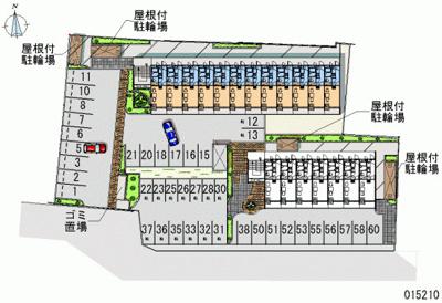【地図】レオパレスCOMFORTひらのⅠ