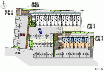 【地図】レオパレスCOMFORTひらのⅡ