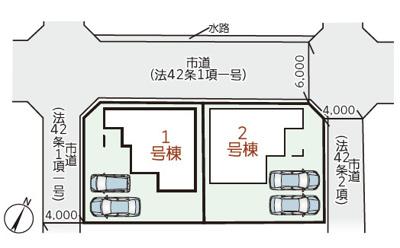 【区画図】リーブルガーデン倉敷・連島町矢柄第2 2号棟