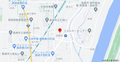【地図】上場貸家(東)