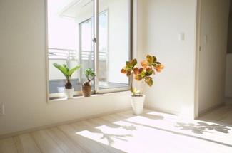 全居室南向きで日当たり良好!