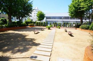 マンション敷地内に広場あります。
