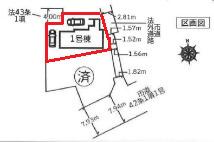 【区画図】新築・川越市岸町1丁目(全2棟)1号棟