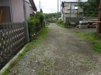 【前面道路含む現地写真】千葉市緑区平山町 土地 鎌取駅