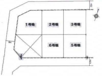 【区画図】衣川2丁目 分譲6区画 6号地