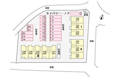 【区画図】セイバリー・ノア Ⅰ