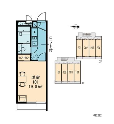 【区画図】レオパレスセブンスヒルⅢ