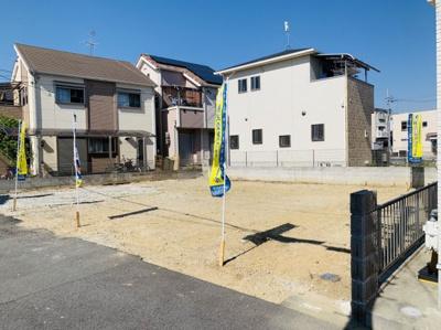 【前面道路含む現地写真】クロワールタウン加茂 高石市 新築