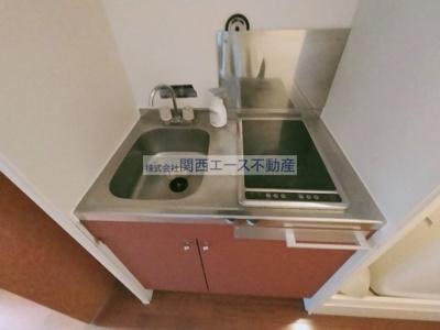 【キッチン】レオパレス俊徳道
