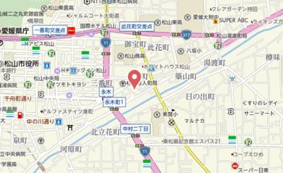 【地図】エルプレール永木