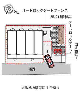 【地図】レオパレスウィステリアⅢ