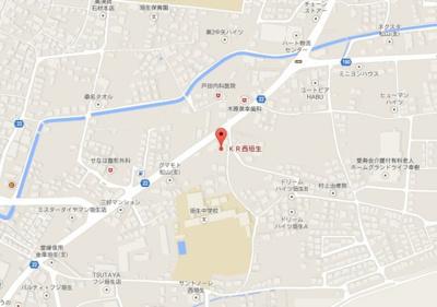 【地図】KR西垣生