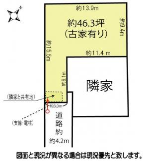 【土地図】鴻巣市宮前の売地【NO.10364】