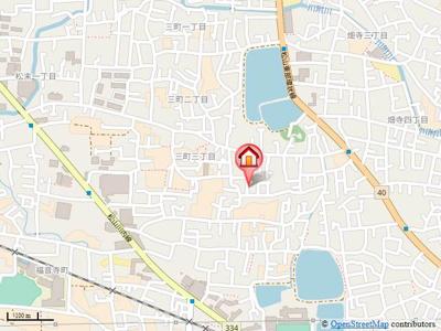 【地図】三町3丁目6-2石丸戸建・