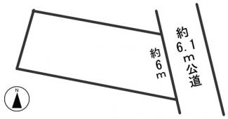 【区画図】54967 岐阜市六条南土地