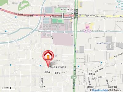 【地図】コーポ生石