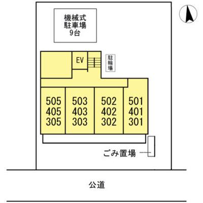 【区画図】プランドール東岡崎