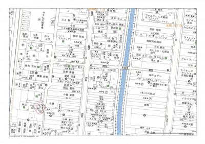 【地図】メゾナ仲町