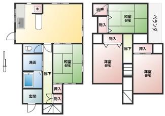 収納が充実した間取りです。各部屋広く住空間が確保できます。