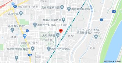 【地図】ピュアホーム天川新町