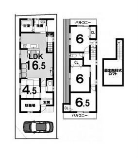 建物参考プラン延床面積:96.57平米